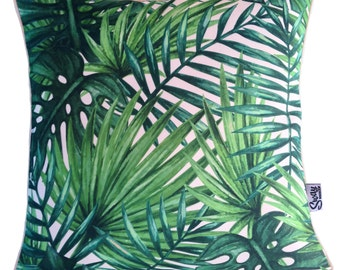 HAVANA Vintage Tropical Palm Leaf Outdoor Indoor Cushion Cover