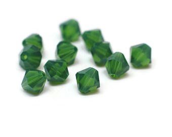 Swarovski Crystals / 6mm Bicone / Palace Green Opal / 12pcs / SWR027