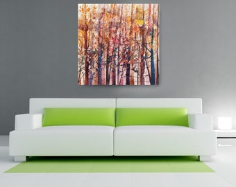 Lost in Autumn, African American Art, Canvas Art, Canvas Wall Art,Home Decor Art, Canvas Painting,Abstract Art, Wall Art