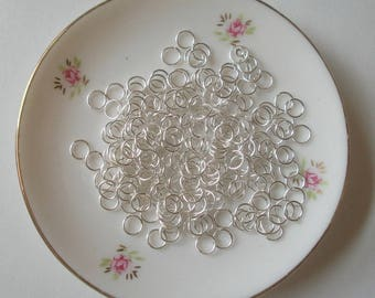 100 Silver jump rings 6mm diameter