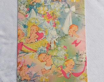 Vintage | Baby Boy | Baby Girl | Wrapping Paper