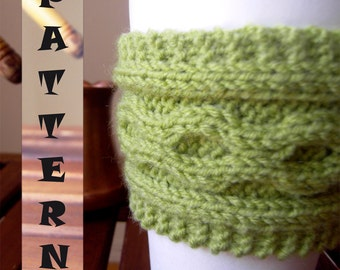 Cup Cozy KNITTING PATTERN, Cup Cozy Pattern, Coffee Cozy Pattern, Mug Sleeve Pattern to Knit, Instant Download
