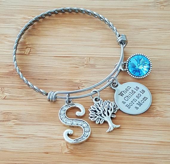 New Mom Bracelet New Mom Gift Mom Bracelet Birthstone Bracelet for Mom New Mom Jewelry New Mommy Gifts New Mom Push Present