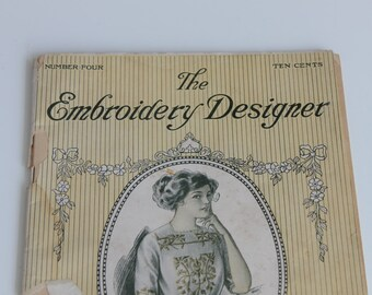 1911: The Embroidery Designer Catalog | Vintage Embroidery Craft Book