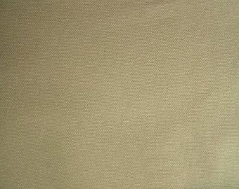 ORGANIC Cotton Duck Canvas Fabric KHAKI Apparel Home Decorating Crafting