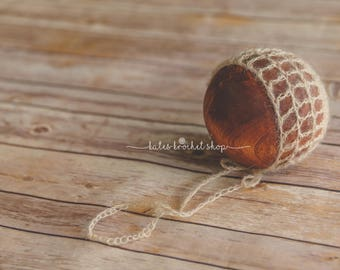 Mohair Baby Bonnet Photography Prop