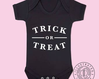 Trick Or Treat baby vest babygrow K0097