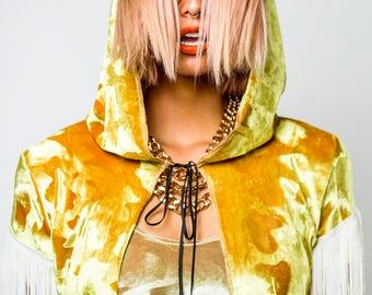 Velvet hooded mini cape ** SOLD **