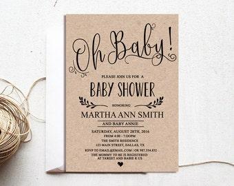 Baby Shower Invitation Gender Neutral Etsy