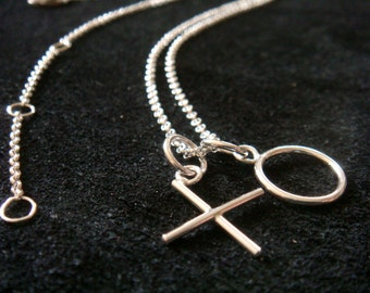 """personalized jewelry, initial NECKLACE, kiss and hug or any message, pick your letter,  1 letter, 16- 18"""", sterling silver, with free charm"""