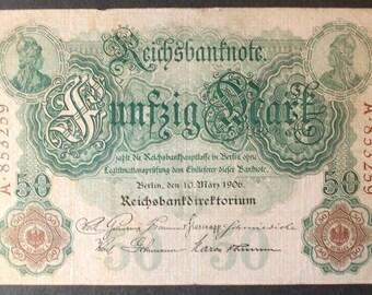 Germany P26a 50 Mark Fine