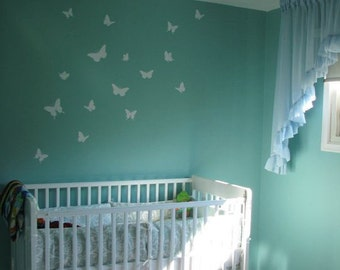 Butterfly Wall Decals. Nursery wall decals for nursery. Set of 16 butterflies. Removable wall decals.