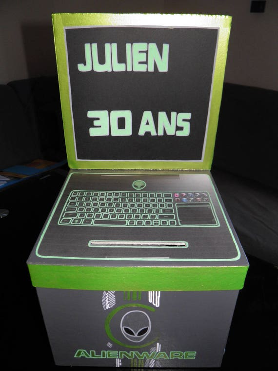 Populaire Urne anniversaire theme geek gamer ordinateur jeux video FY98