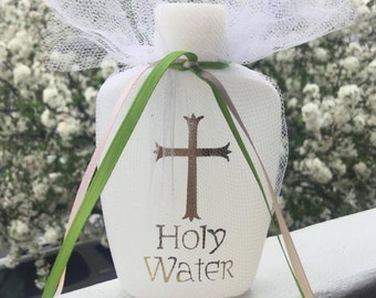 24 Holy Water Favors for Baptism, Christening, Communion, Confirmation any religious event.