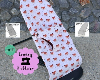 Patrón de costura para Funda de Hamaca - Balancín Baby Bjorn Balance Soft en PDF que protege a la funda original , Accesorios Bebé