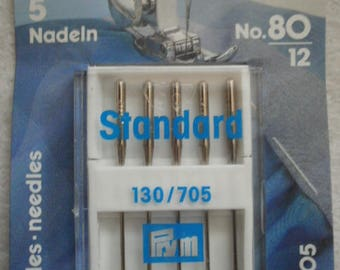 STANDARD number 80 MACHINE NEEDLES (12) - Pack of 5 needles