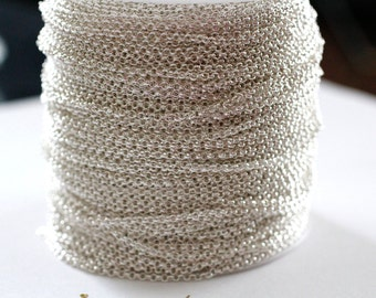 32ft 2mm Silver Rolo Chain links-unsoldered