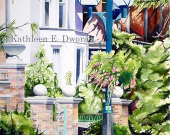Toronto Streetscape- signed limited edition watercolor print