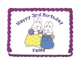 Max and Ruby Cake Topper with FREE Personalization Max and Ruby Birthday