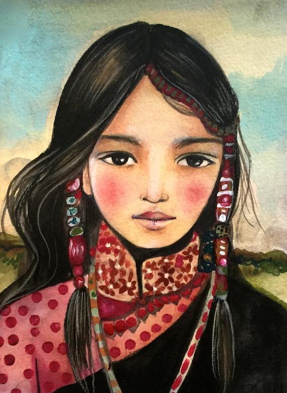 hmong inspired girl
