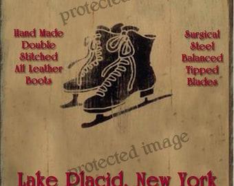 Primitive Ice Skating Label ~  Instant Digital Download