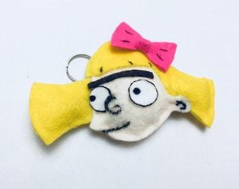 Hey Arnold! Helga plush keychain original!!!