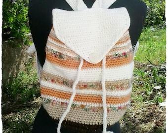 Crochet backpack pattern, Crochet bag tutorial, Striped boho backpack pdf pattern, Crochet pattern boho bag, Gift for crocheter