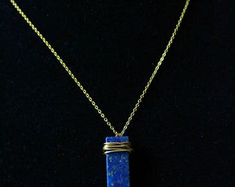 Modern Chic Lapis Necklace