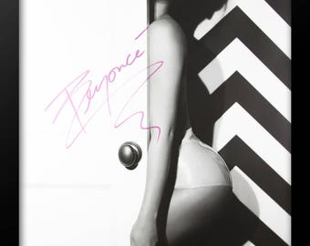 Beyonce Signed Poster - Custom Framed