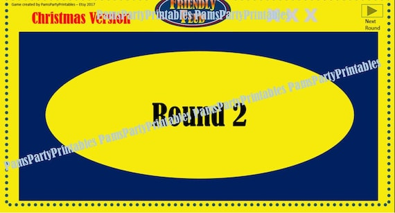 christmas friendly feud game two family feud interactive, Powerpoint templates