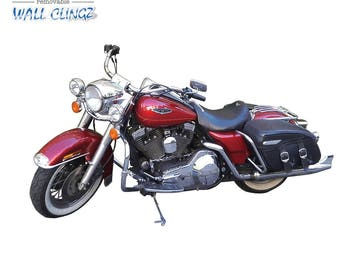Harley Davidson Maroon, Wall Graphic Decal, Man Cave Decor, Garage Wall Decor, Car Wall Stickers, Wall Decal, Wall Decals, Maroon Harley