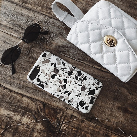 White Terrazzo I Phone Case For I Phone X, I Phone 6/7/8, I Phone 6+/7+/8+   Unique And Protective I Phone Case By Felony Case by Etsy