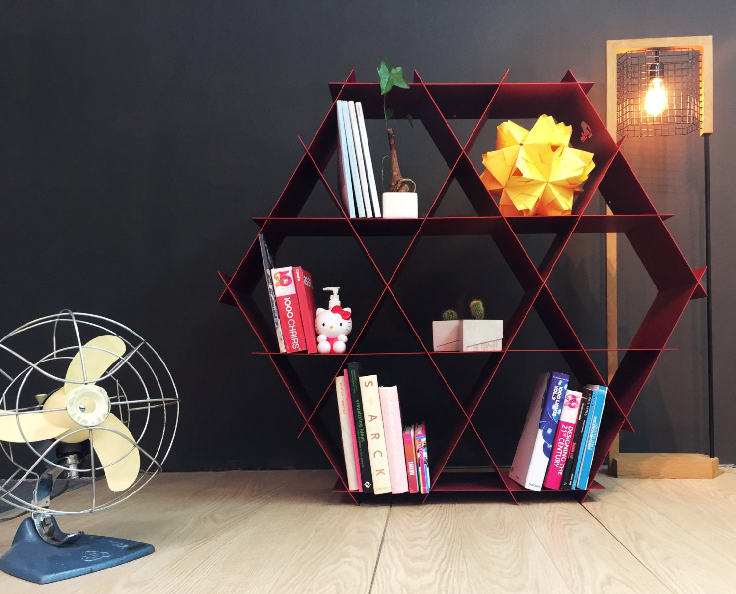 fit or diy buy therapy honeycomb the max under shelves bookshelf geometric apartment w coolest
