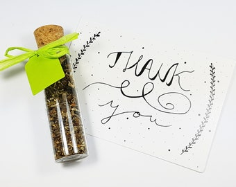 Flower seeds with greeting card seed gift