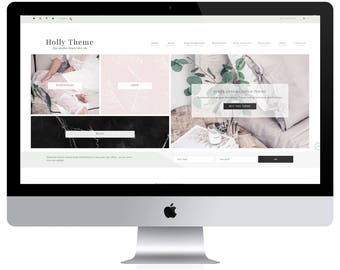 Feminine Wordpress Theme Holly / Ecommerce and Portfolio / Genesis Child Theme / Woocomerce Theme / Photography Theme /