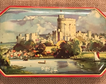 George W. Horner And Co Hinged Lid Tin / Made In England Boy Blue Assortment Of Toffee tin