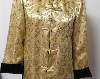 Silk Brocade Chinese Jacket Reversable Velvet   #119