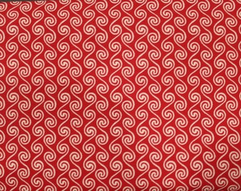 Red and White Fat Quarter Quilt Fabric