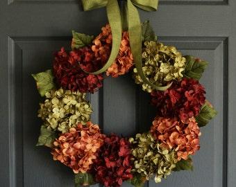 Summer Wreaths | Hydrangea Wreath | Front Door Wreaths | Wreath for Front Door | Fall Wreath | Year Round Wreath | Housewarming Gift