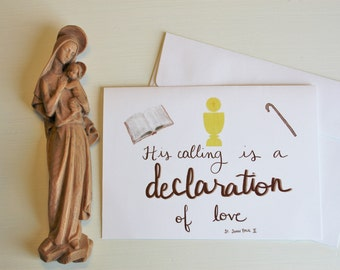 Ordination card etsy