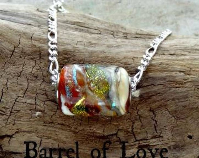 Barrel of Love Memorial Necklace, Ashes in Glass,Pet Memorials, Cremation Jewelry