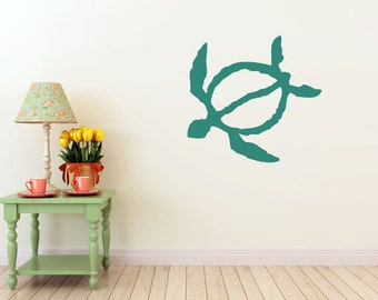 Turtle, Honu, vinyl Wall DECAL- Animal interior design, sticker art, room, home and business decor