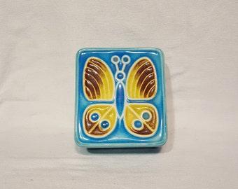 1960s Butterfly Trinket Box