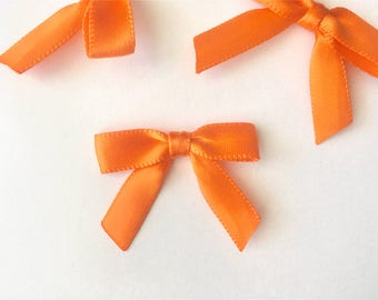 12/24/48/100 Torrid Orange Mini Handmade Bows
