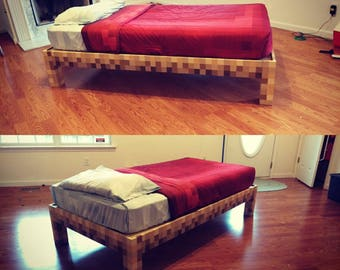 Plans only* Minecraft twin bed frame