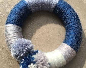 Handmade Pom Pom Ring/Wreath