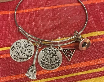 Harry Potter Charm Bangle Bracelet