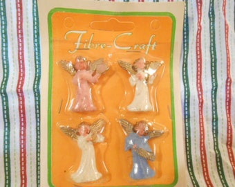 "Fibre Crafts Angels-Miniature Angels-Old Store Stock - 1.5"" Tall"