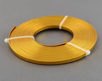 3 flat aluminum wire x 1 mm x 5 m - yellow gold