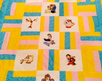 Disney Beauty and the Beast Quilt Machine Embroidery